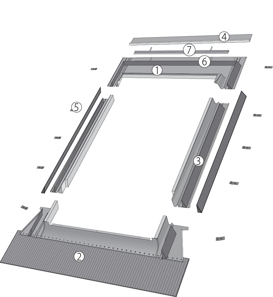 Изоляционный оклад EHN-AT/G Thermo для окна-балкона