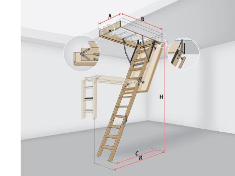 Лестницы на чердак раскладные LWS Plus