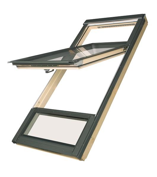 Мансардные окна с приподнятой осью поворота створки proSky