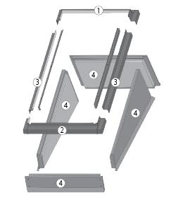 Конструкция EFW для установки окна в крышу с малым углом наклона