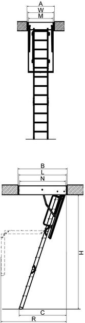 Лестница с люком на чердак LTK Thermo