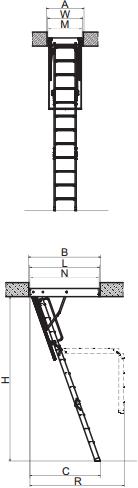 Складные чердачные лестницы LWK Plus