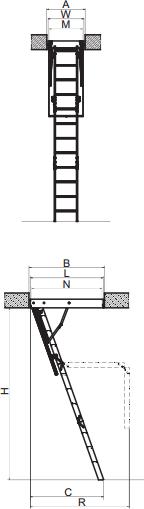 Конструкция раскладной чердачной лестницы LWS Plus
